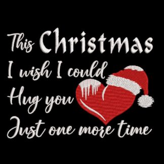 Christmas quote hug you one more time