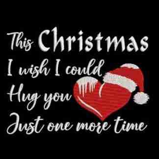 Christmas quote hug you one more time