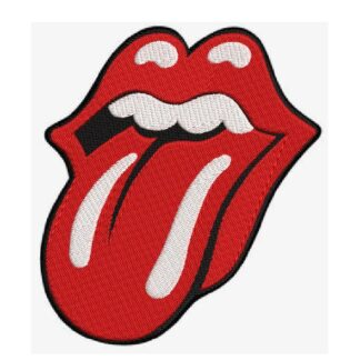 Rolling Stones iconic tongue embroidery