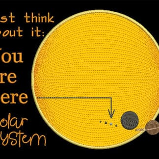 Solar System embroidery design