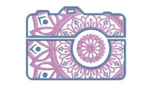 Camera embroidery design