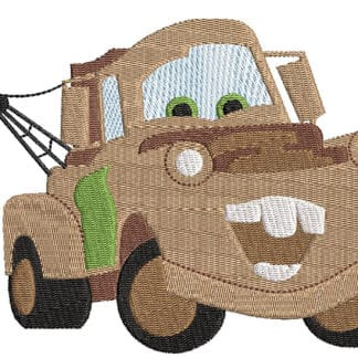 Disney Tow Mater car embroidery design