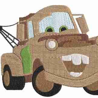 Disney Tow Mater car embroidery design
