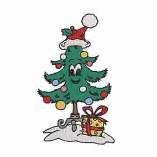 christmas embroidery design-Christmas tree embroidery