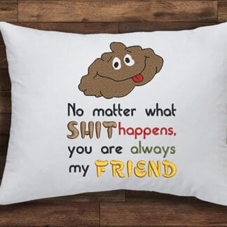 friendship quote embroidery design