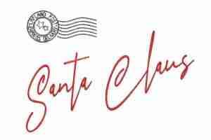 Santa Claus signature Christmas embroidery design